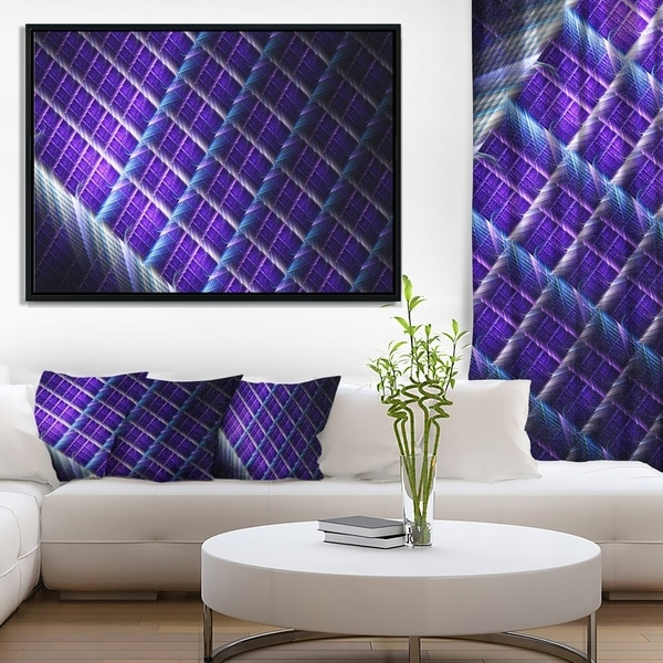 Designart 'Light Purple Metal Grill' Abstract Art on Framed Canvas