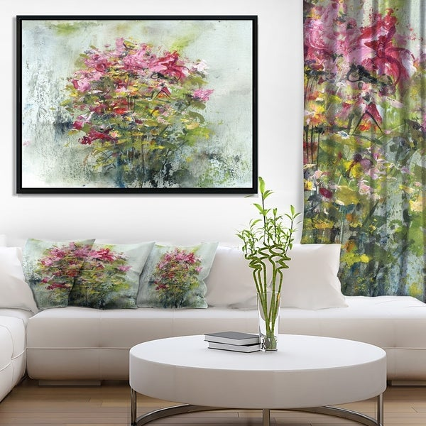 Designart 'Bouquets Of Roses Painting Art' Floral Art Framed Canvas Print