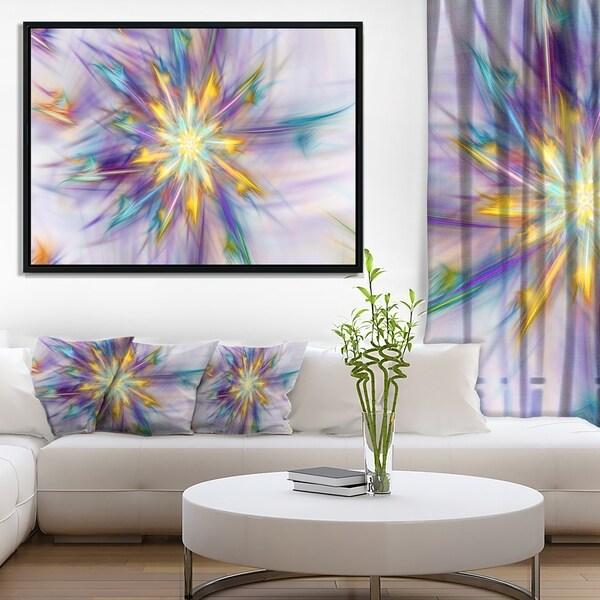 Designart 'Large Exotic Colorful Flower' Floral Framed Canvas Art Print
