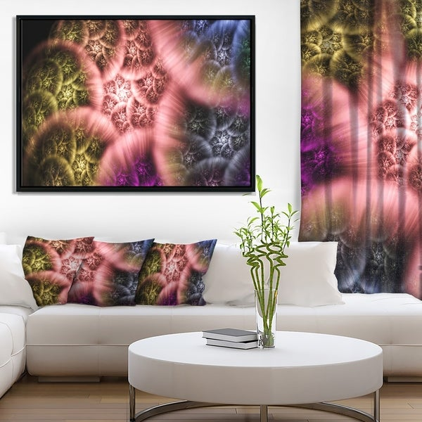 Designart 'Biblical Sky with Multi Color Clouds' Abstract Wall Art Framed Canvas