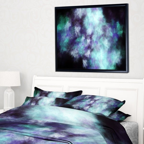 Designart 'Perfect Flowery Starry Sky' Abstract Framed Canvas Art Print
