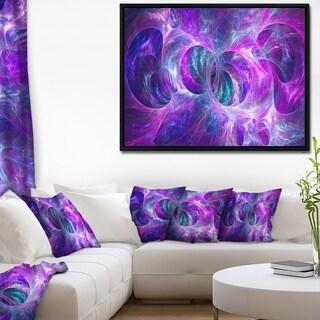 Designart 'Snow Purple Fractal Texture' Abstract Framed Canvas Art Print