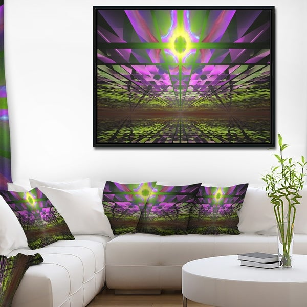 Designart 'Fractal Cosmic Apocalypse' Abstract Art on Framed Canvas