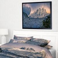 Designart 'Kangchenjunga Panorama' Landscape Framed Canvas Art Print