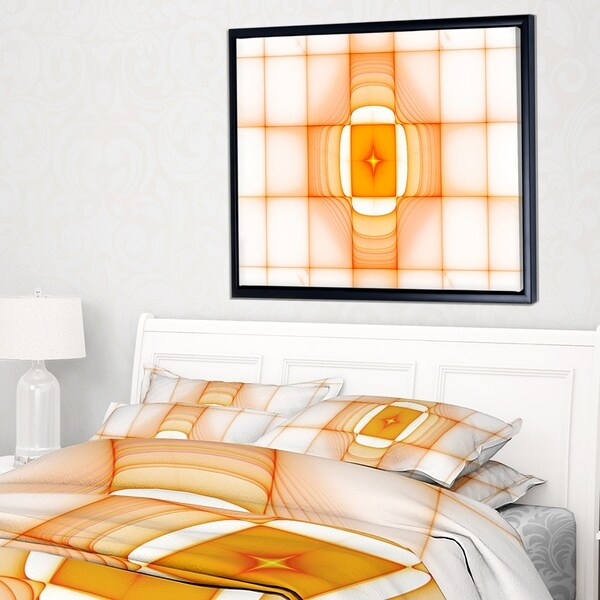 Designart 'Yellow Thermal Infrared Visor' Abstract Framed Canvas Art Print