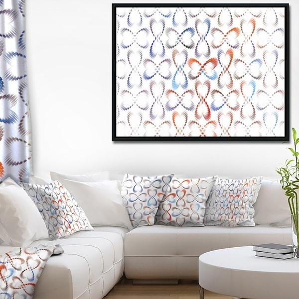 Shop Designart \'Butterflies Fractal Outline Art\' Abstract Wall Art ...