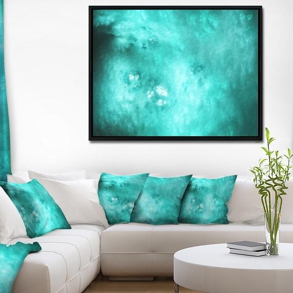 Designart 'Blur Blue Sky with Stars' Abstract Framed Canvas Art Print