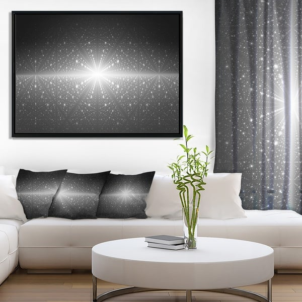 Designart 'Stardust and Bright Shining Stars' Abstract Wall Art Framed Canvas