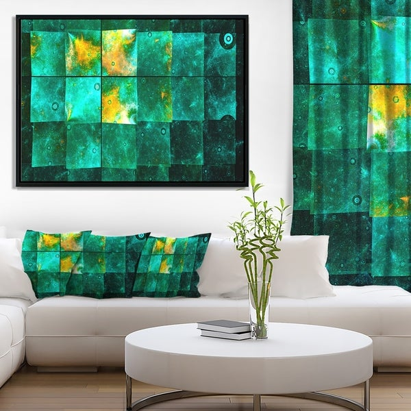 Designart 'Astrological Space Map' Abstract Wall Art Framed Canvas