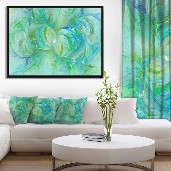 Designart 'Snow Fractal Glass Texture' Abstract Framed Canvas Art Print