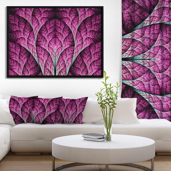 Designart 'Exotic Pink Biological Organism' Abstract Art on Framed Canvas