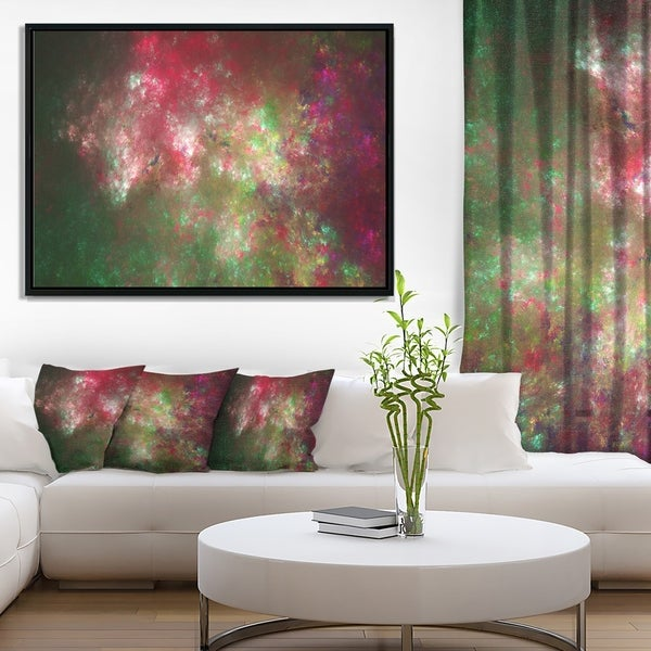 Designart 'Colorful Starry Fractal Sky' Abstract Framed Canvas Art Print