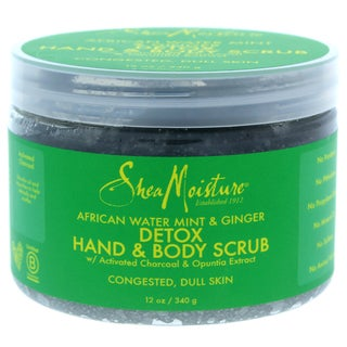 Shea Moisture 12-ounce African Water Mint & Ginger Detox Hand & Body Scrub