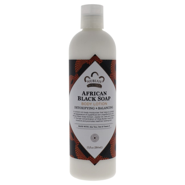 Nubian Heritage 13-ounce African Black Soap Body Lotion, ...