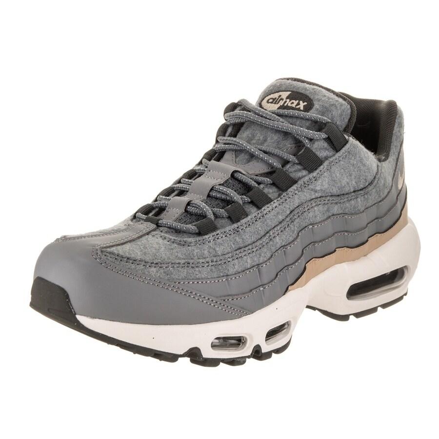 Nike Men's Air Max 95 Premium Running Shoe (8), Grey (lea...