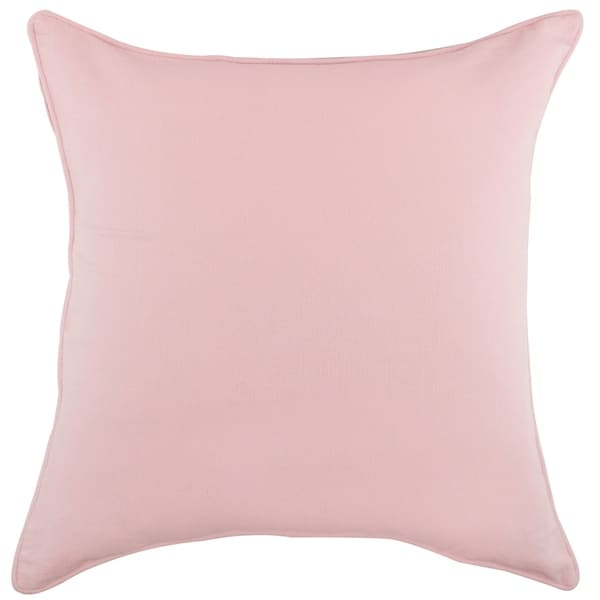 Solid Soft Blush Textured Pillow by Generic