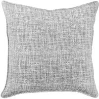 Linen Greytone distressed Textured Pillow
