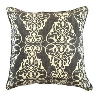 Ashley Victorian Damask Grey Pillow