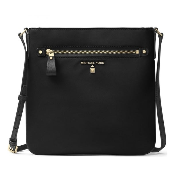 3ffc2058004 Shop MICHAEL Michael Kors Nylon Kelsey Large Crossbody Black - Free ...
