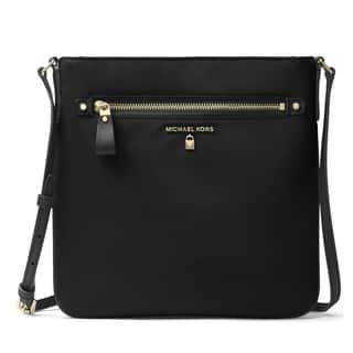 Michael Kors Nylon Kelsey Large Crossbody Black