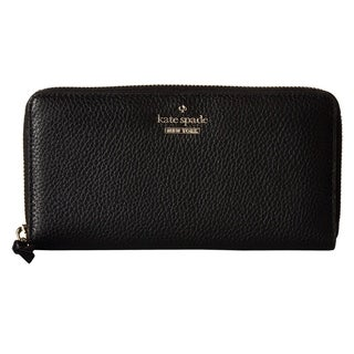 Kate Spade Jackson Street Lacey Zip Around Wallet Leather Black