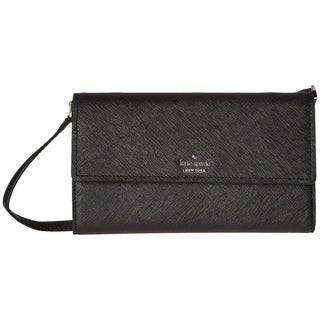 Kate Spade New York Leather Flap Wallet Black
