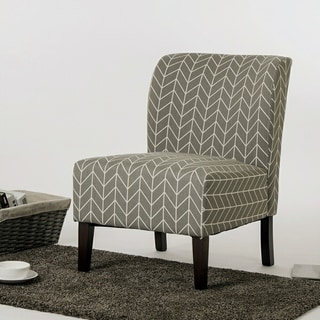 Kassi Grey Geometric Fabric Accent Slipper Chair By