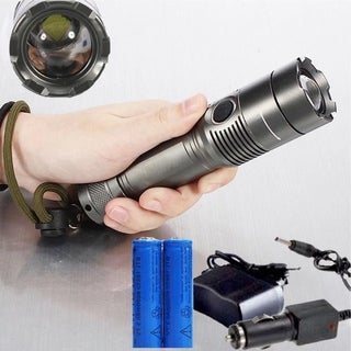 Rechargeable 5000LM LED Flashlight Torch Lamp+Battery +Charger
