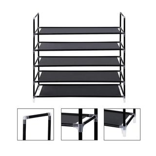 Shoe Rack Organizer Storage Pairs Shoes Shelves Space 5 Tier Standing