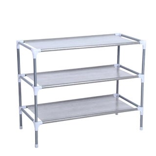 Shoe Rack Organizer Storage Pairs Shoes Shelves Space 3 Tier Standing