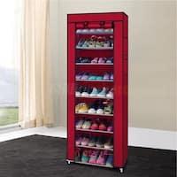 Shoe Rack Shelf Storage Closet Organizer Cabinet Portable with Cover