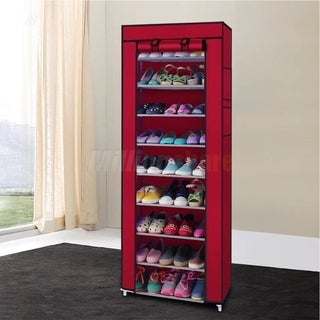 Shoe Rack Shelf Storage Closet Organizer Cabinet Portable With Cover