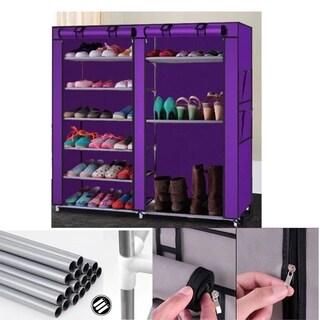 6 Tier Level Shoe Tower Rack Organizer Storage Cabinet Furniture