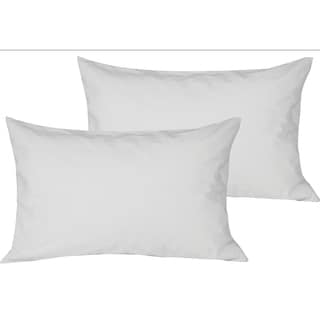 Just Linen 100% Water Resistant , Zippered Hypoallergenic Dust Proof Terry Surface Pillow Protector, White