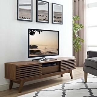 Modway Render Walnut Finish 59-inch Modern TV Stand