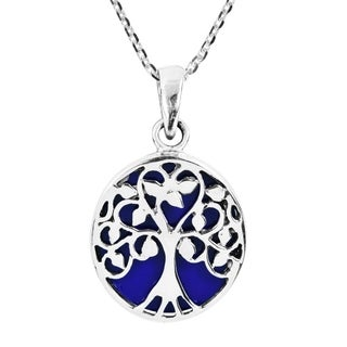 Amazing Tree of Life Accents Sterling Silver Necklace (Thailand)