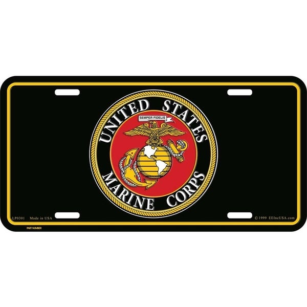 US Marine Corps Logo License Plate 6 by 12 Inches