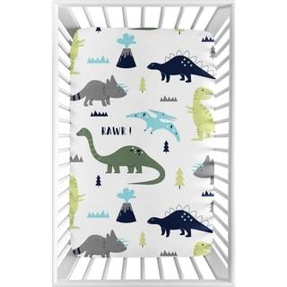 Shop Sweet Jojo Designs Night Owl Print Fitted Crib Sheet