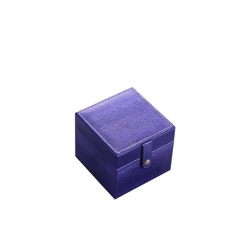"""3.3"""" in Blue Mini Square Travel Jewlery Case"""