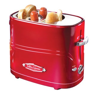 Nostalgia Electrics HDT600RETRORED Retro Series Pop-Up Hot Dog Toaster