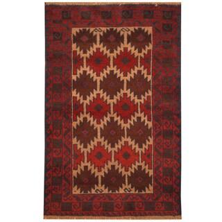 Handmade Herat Oriental Afghan Hand-knotted Tribal Balouchi Wool Rug (2'10 x 4'5) - 2'10 x 4'5