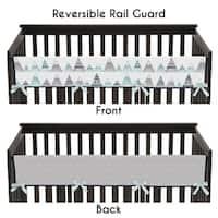 Sweet Jojo Designs Navy Blue, Aqua and Grey Aztec Mountains Collection Long Crib Rail Guard Cover