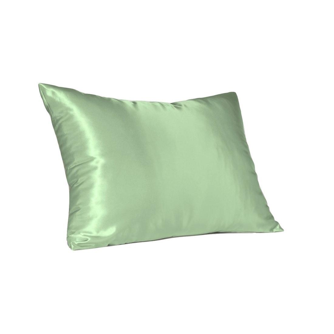 Standard Satin Silk Pillowcase Soft Cover Home Sleep Bedding Pillow Case