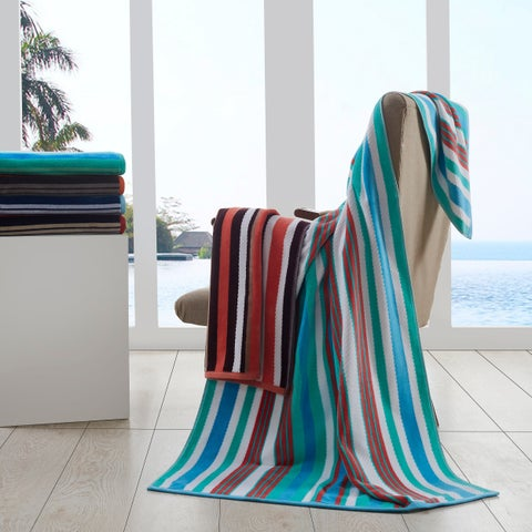 Superior 100% Cotton Rope Textured Oversized Beach Towel (Set of 2)