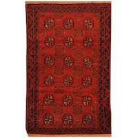 Handmade Herat Oriental Afghan Hand-knotted Tribal Balouchi Wool Rug  - 2'10 x 4'5 (Afghanistan)
