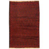 Handmade Herat Oriental Afghan Hand-knotted Tribal Balouchi Wool Rug (3' x 4'9)