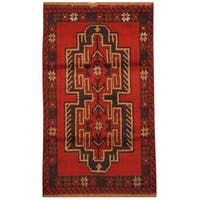Handmade Herat Oriental Afghan Hand-knotted Tribal Balouchi Wool Rug (Afghanistan) - 2'9 x 4'7