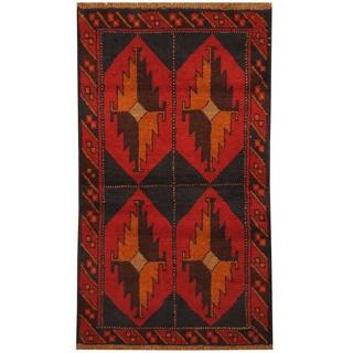 Handmade Balouchi Wool Rug (Afghanistan) - 2'7 x 4'6