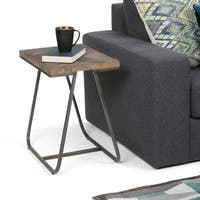 WYNDENHALL Camilla Narrow End Side Table in Distressed Java Brown