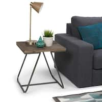 WYNDENHALL Camilla End Side Table in Distressed Java Brown